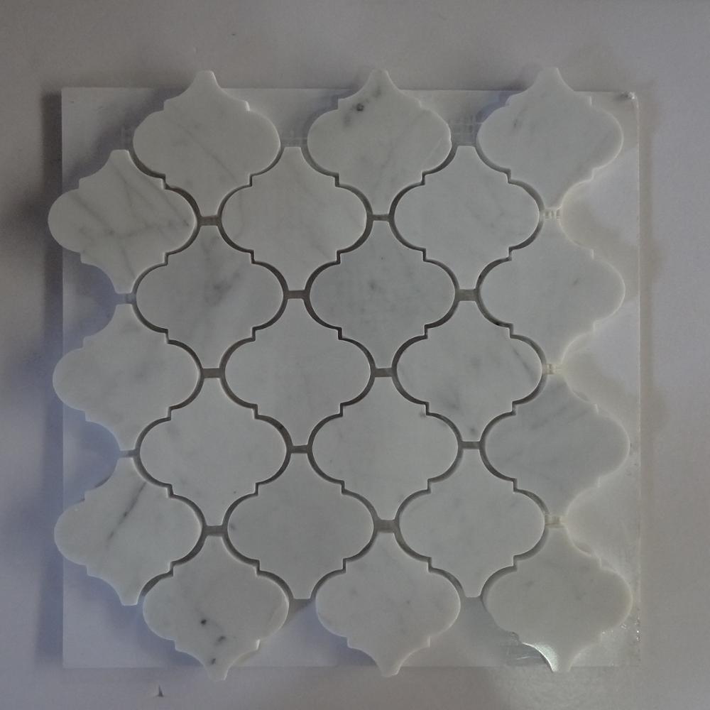 - 2019 New Design Lowes Carrera Marble Lantern Mosaic Tile Kitchen