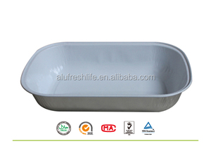 Smooth wall foil tray for food packing