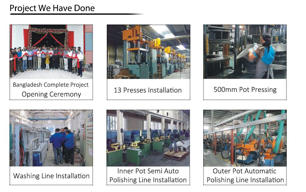 Sunglory 4 Kolom Mesin Press Hidrolik, Mesin Stainless Steel Peralatan Masak Hidrolik Menekan Mesin untuk Peralatan Masak