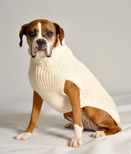 cable knit grey color pet apparel accessories dog sweater