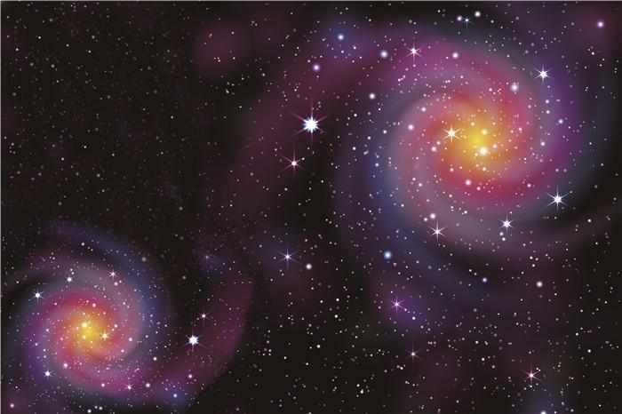 3d Langit Langit Wallpaper Mural Langit Malam Misterius Universe