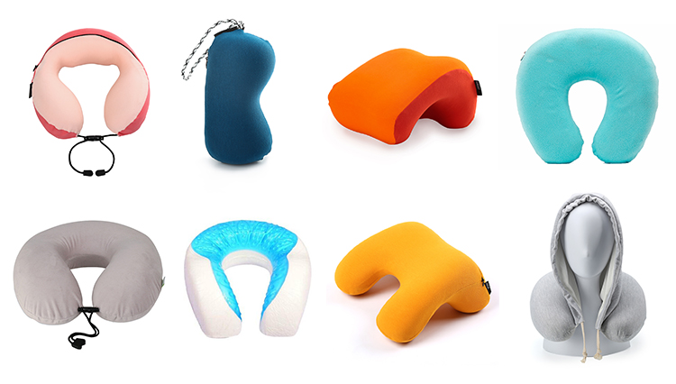 Excellent Travel Accessories Sleeping Travel Camping Airplane Hood Memory Foam Neck Hoody Pillow With Hood