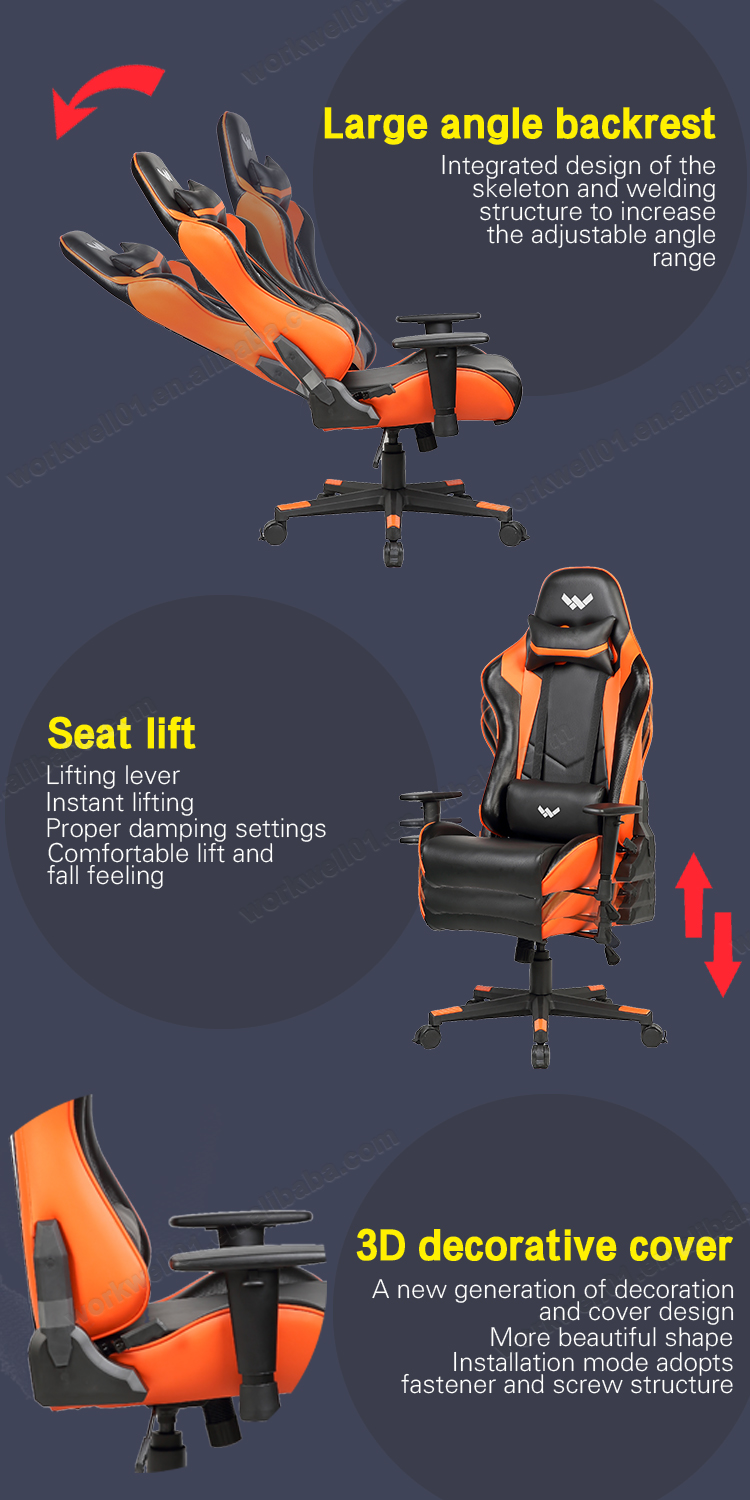 Lasted design modern colorful gaming chair racing chair