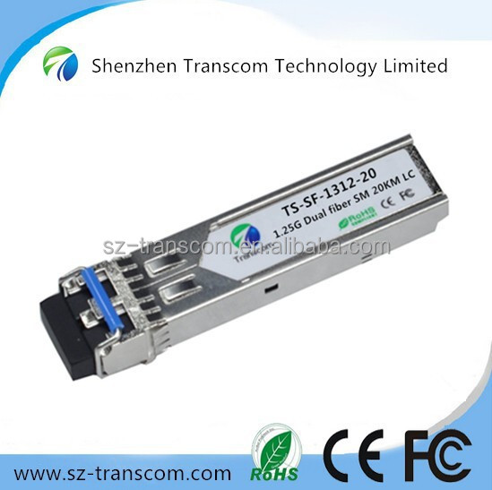 high quality 1.25g 20km sfp module/Factory supply 1.25G 1310nm SFP 20KM/ Gigabit Ethernet 1.25g sfp 20km