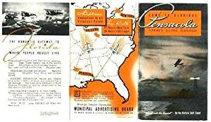 Come to Pensacola Florida Brochure 1939 Navy Bi-Planes