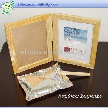 children keepsake with frame handprint clay buy baby keepsake