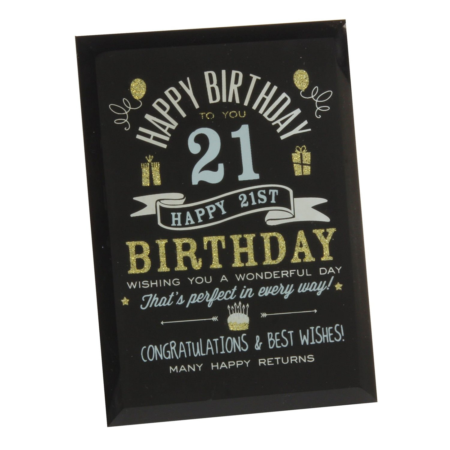 Get Quotations 21St Birthday Gift Ideas Glass Plaque For Him Her Friends Grandparents