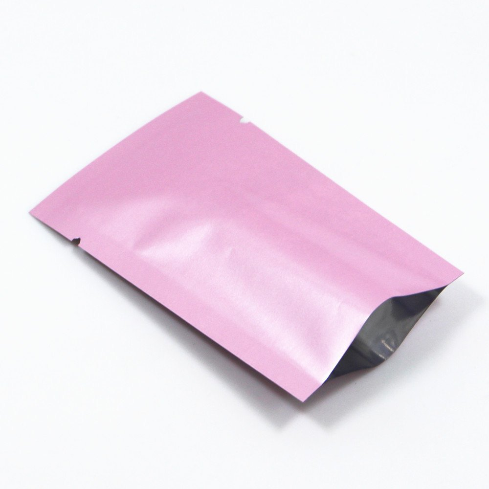 9c1636646c Get Quotations · 5x8cm Open Top Aluminum Bags Heat Seal Vacuum Mylar Foil  Packaging Pouch For Powder Coffee Pack