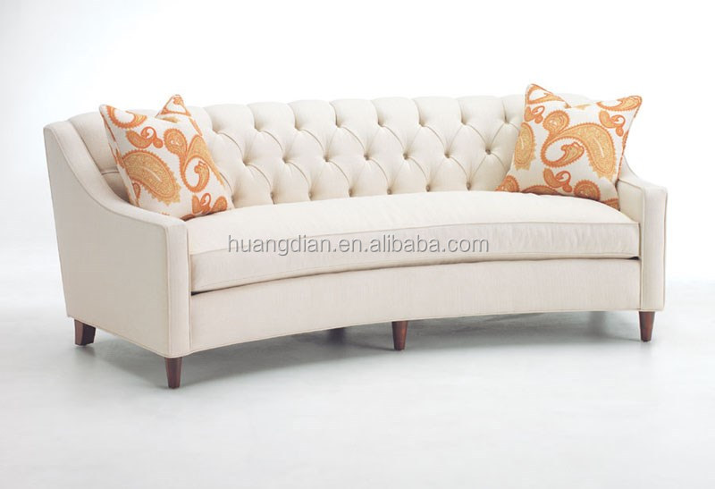 Modern Vintage Chesterfield Sofa Purple Fabric Wooden Sectional Home Furniture Living Room