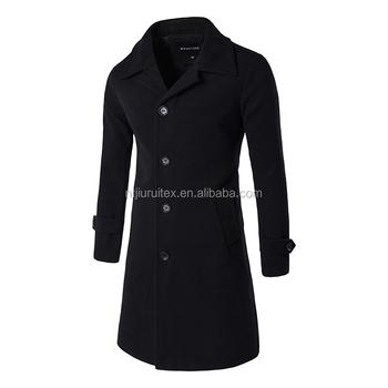 Winterjas Heren Trenchcoat.Classic Polyester Knielengte Warm Winter Lange Heren Trenchcoat