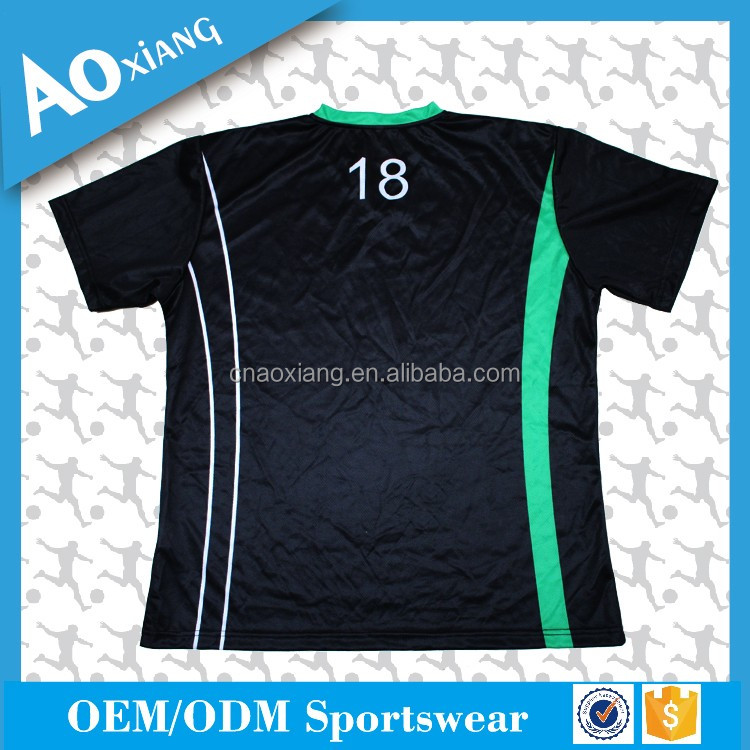 2017 custom design football sports hot sale soccer jersey china factory
