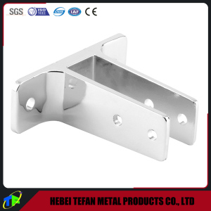 Chrome Plated Two Ear Wall Bracket For Restroom Partitions