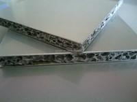Fireproof decorative metal foam core aluminum sandwich wall panel