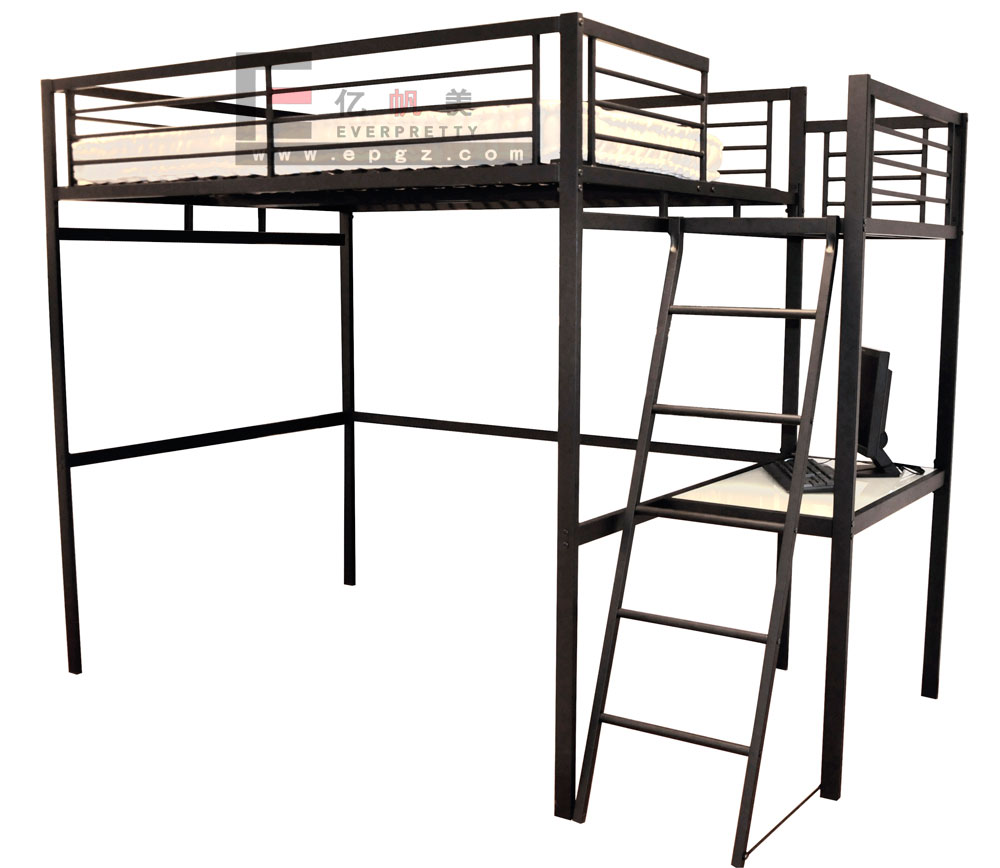 Bunk metal bed frame cheap metal triple bunk beds for sale for Lit mezzanine metal 2 places