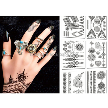 Oem & Odm Service Black Henna Tattoo Stickers Non Toxic Temporary ...