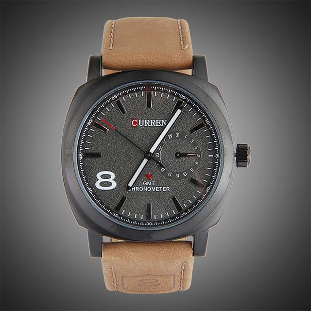 9f53c1bcfab56 Curren 8139 hombres de negocios deportes mate impermeable reloj de cuero