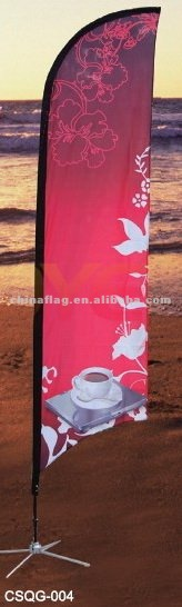 Custom Screen or sublimated polyester or nylon Beach or Feather banner