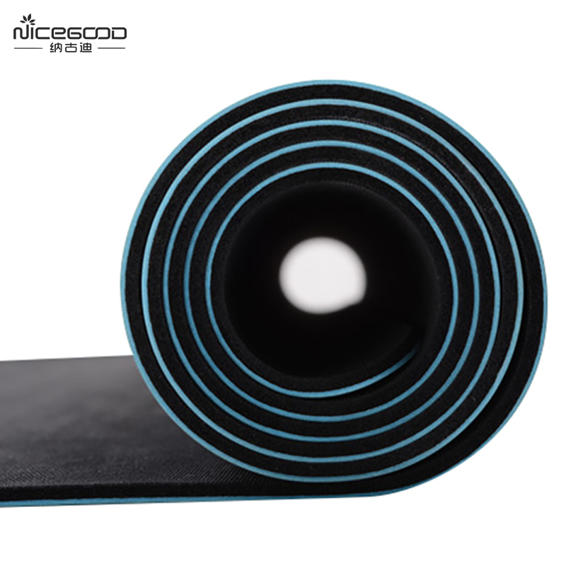 Laser engrave eco friendly rubber mat custom made PU yoga mat polyurethane supplier