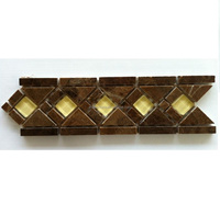 Stone mixed glass home wall door floor border marble mosaic