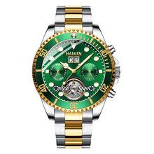 HAIQIN брендовые Роскошные мужские часы, механические деловые стальные часы, спортивные водонепроницаемые наручные часы, турбийон Reloj mecanico de ...(Китай)