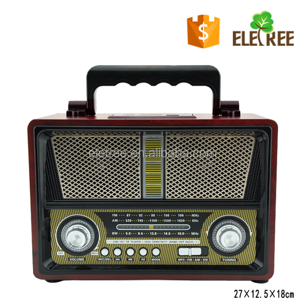 FM AM SW USB SD function Portable radio with torch