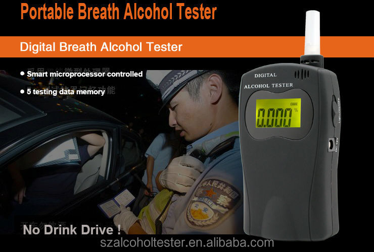 Alcohol Tester Breath Content Analyzer Detector