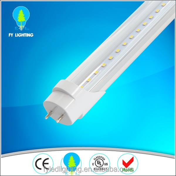 PC cover and Aluminum heatsink Profile ul t8 led tube 2400mm for USA and Canada market