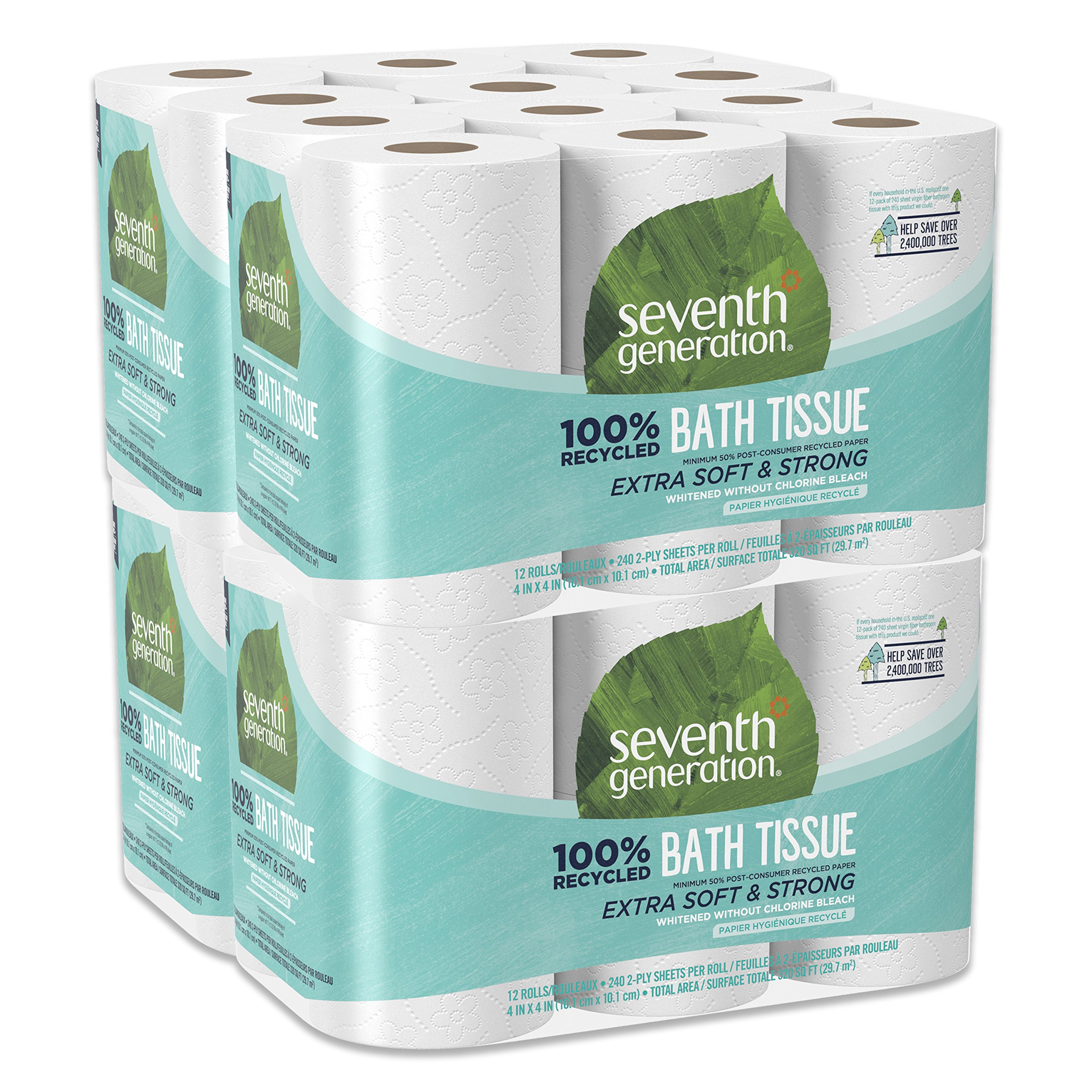 Ecoleaf recycled paper toilet rolls 9 pack household & bodycare.