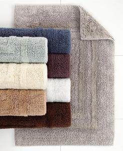 JR481 Luxury Soft Floor Mat Cotton Washable Nonslip Bathroom Rug