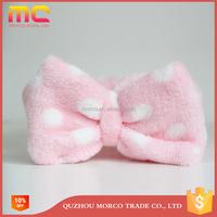polar fleece fabric wrap bowknot headband