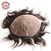 Top Quality Swiss Lace/french Lace Indian Remy Human Hot Sale Man Hairpiece