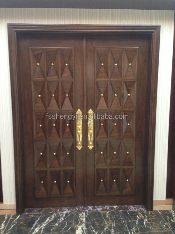 China Fancy Exterior Solid Wood Double Open Entry Doors Buy China