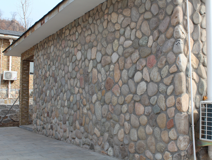 Large River Rock Stones Exterior Wall Tiles Designs Landscaping