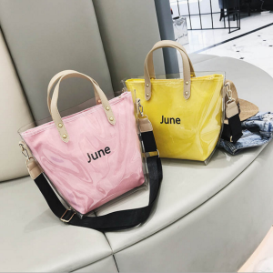New style woman transparent PVC bag big capacity handbag tote bag
