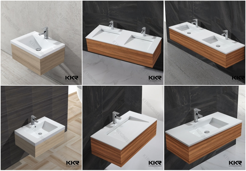 Hotel Project Integrated Bathroom Sink And Countertop
