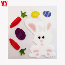 2017 Easter Rabbit Bunny Gel Cling and Jelly Window Sticker WYC-09689