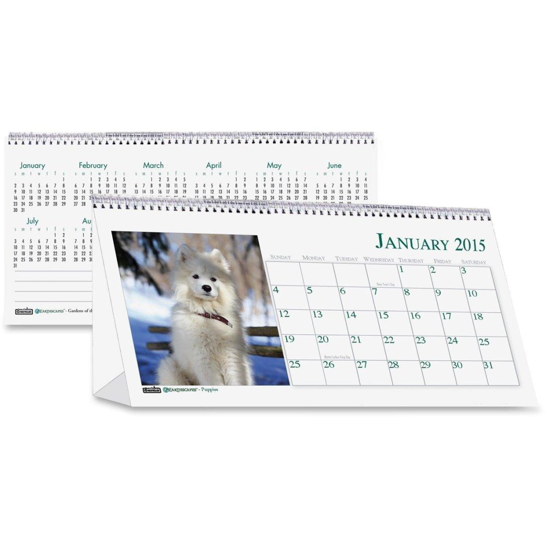 HOD3659 - House of Doolittle Puppies Desktop Tent Calendar
