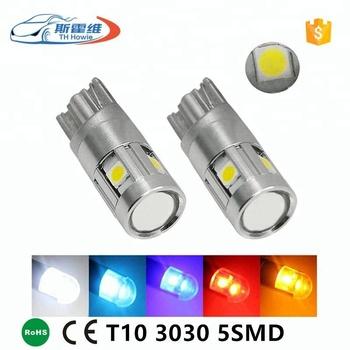 Qualité T10 Côté Lumière Lampes De Feux 3030 Parking 168 Led Ampoule Voiture Plaque Haute D'immatriculation 5 W5w 194 Automatique Smd 6gfyYb7v