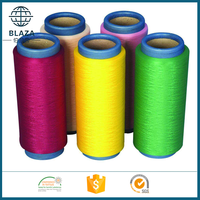 manufactory 100% polyester filament yarn trilobal bright 150D polyester dope dyed yarn