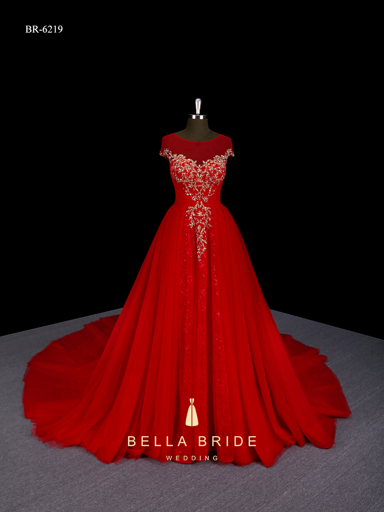 dece7ff485646 Long frocks designs bridal party dress red lace wedding gown for pakistan