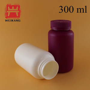 300cc Empty Plastic Capsules Bottles Medical Pills Containers for sale
