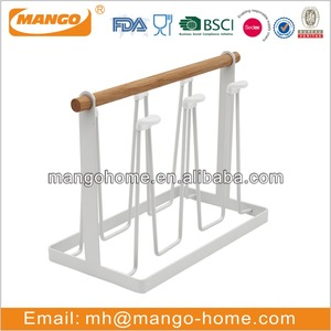 Metal mug holder / iron glass cup stand rack