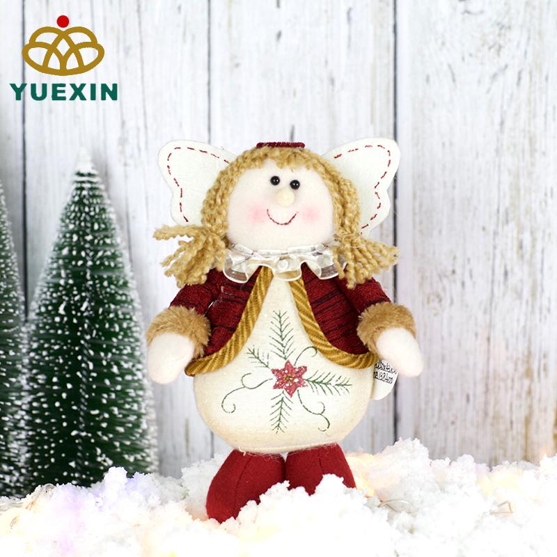 Bella Piccolo Peluche di Natale Fatti A Mano Bianco Angelo Bambola per le Ragazze