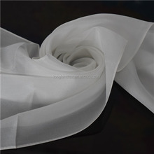 Chinese white color 100 pure silk crepe de chine scarves