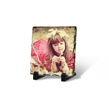 Customized Photo Frame Square Glossy Sublimation Rock Slate Photo 20*20cm