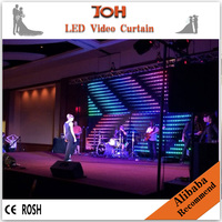 Ultra thin light weight indoor P10 LED stage video curtain,china sexxx video led curtain,led video cloth