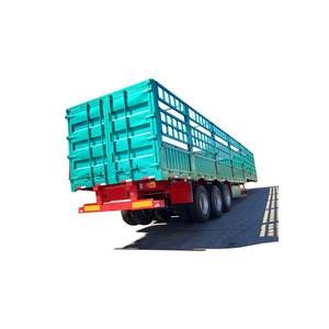 3 axle payload optional fence semi trailer for cattle or horse
