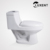 Fashion Style Siphon Flushing S-trap White Color Porcelain One Piece Toilet