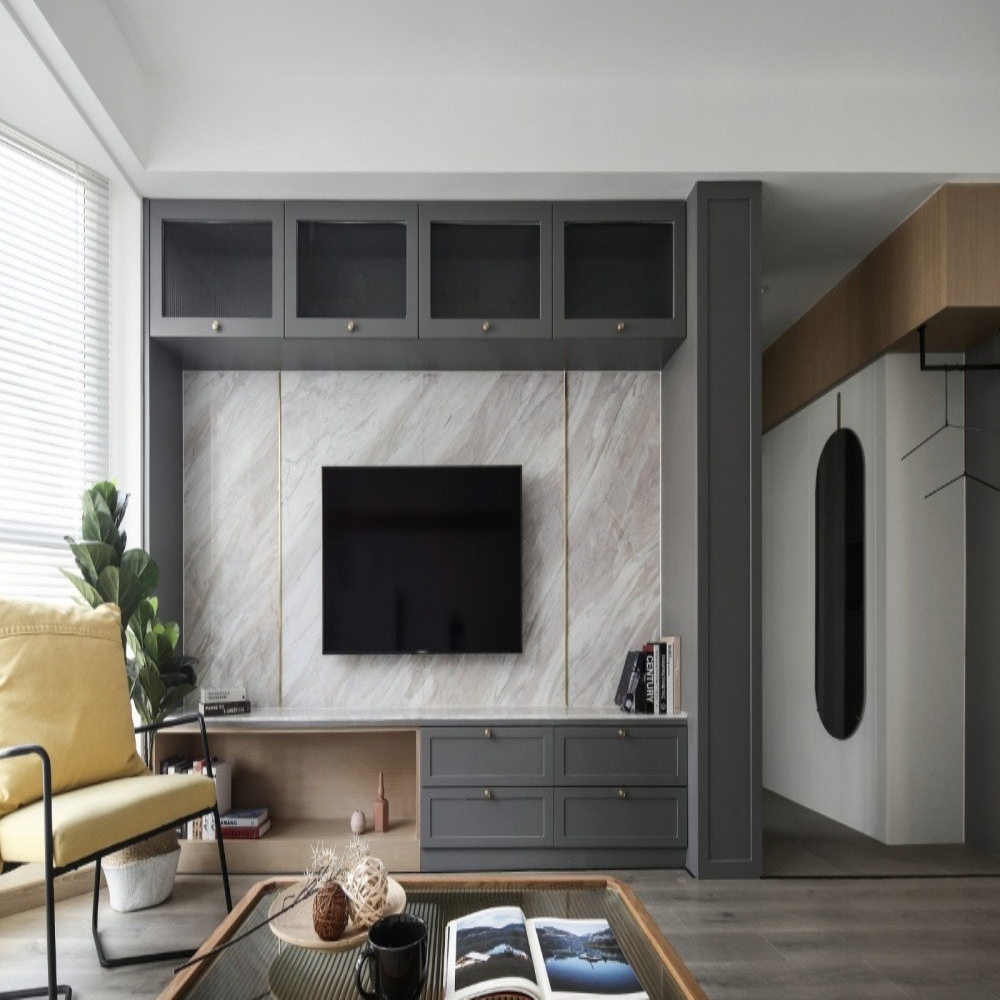 Customized Wooden Tv Cabinet With Doors