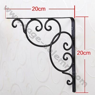 decorative wrought iron scroll shelf bracket